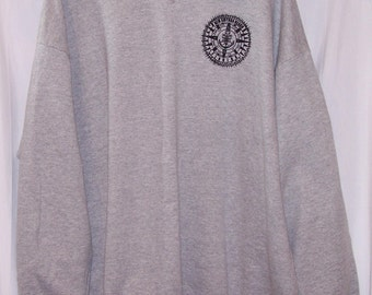Gray Sweatshirt with doily accent