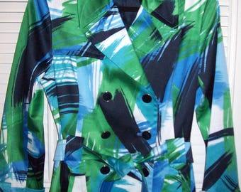 Jacket Small, , Blazer, Spring,Harve Benard,  Raincoat, Epolets, Belted, Size Small, 8 - 10 see details