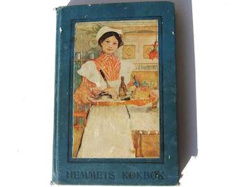 Vintage Swedish Cookbook Hemmets Kokbok 1920s Scandinavian Cooking & Recipes