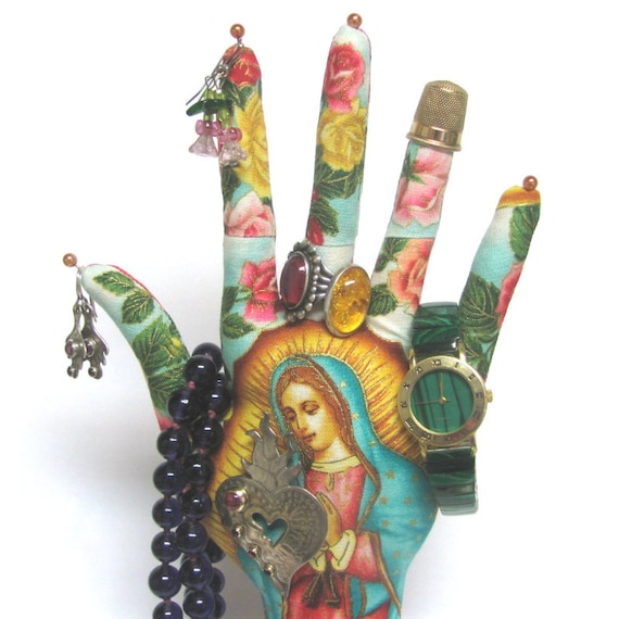 Our Lady Guadalupe CLASSIC HAND-Stand ~ Jewelry Display ~ Ready to Ship