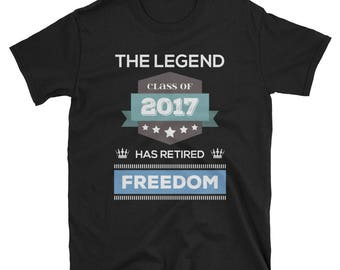 Retired 2017 T-Shirt Funny Retirement Gift Tee