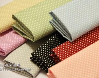 K25- scrap bundle - tiny dots - 8 pieces x (28cm x 30cm)