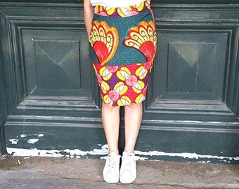 Pencil skirt in wax