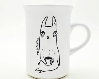 Morning Llama-  mug