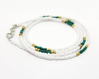 Tiny Waist Beads, African Inspired waist beads,beaded belly chain, beaded body jewelry, waist beads,