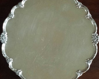 """Remembrance Silverplate Footed Tray 9826 by 1847 Rogers Bros 14"""""""