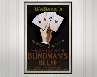 Personalized Poker Sign, Wood Man Cave Bar Sign, Personalized Sign, Personalized Pub Sign