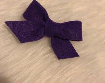 Purple felt clip