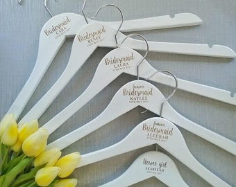 Personalised wedding hanger; engraved hanger; bridal party hanger; bridesmaid gift; bridesmaid coat hanger; wedding hanger, budget hanger;16