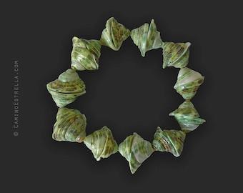 Bracelet Boho green shells Boho Chic Jewelry Jewellery shell jewelry