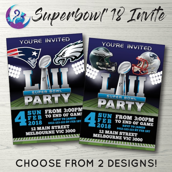 Super Bowl Invitation Superbowl Invitation Super Bowl Party