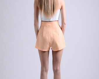 vintage 50s peach shorts / more colors and sizes / retro shorts / 50s shorts / vintage shorts / pin up shorts / high waist shorts