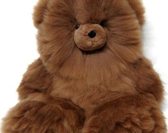 Ships Today! Alpaca Fur Teddy Bears Handpicked from Hundreds for SOFTEST FLUFFIEST Cutest & Super Fast Shipping!