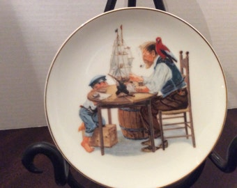 Norman Rockwell inspired Decorator Plate, For a Good Boy, Museum Collections Inc., 1986
