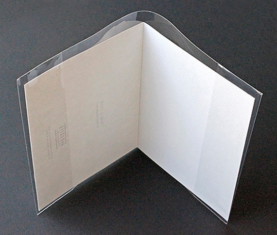 Clear greeting card jackets packs of 100 pieces choice of 3 clear greeting card jackets packs of 100 pieces choice of 3 different sizes from oakcreekprintworks on etsy studio m4hsunfo