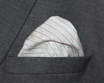 White Bow Tie Print
