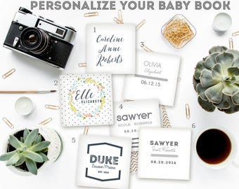 Personalized Name Insert for Baby Book Cover