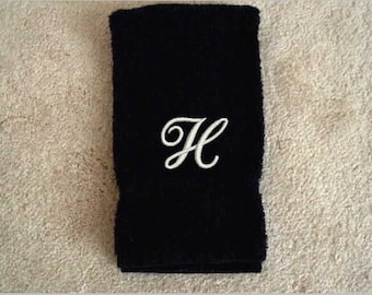 Monogrammed Towel, hand towel, embroidered towel, bathroom decor, custom towels, personalize towels, decorative towel, kitchen towel