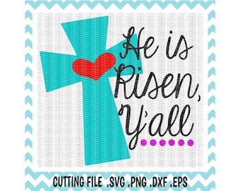 Easter Svg, He is Risen Svg, Jesus Svg, Easter Cutting Files For Silhouette Cameo/ Cricut, Instant Download.