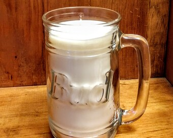 Soy Candle Bud Beer Mug Clean Cotton Scent