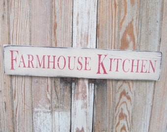 Farm House Rustic Primitive Farmhouse Kitchen Hand Stenciled Wooden Sign GCC6216