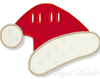 Santa Hat Banner Add On - 3 Sizes, Machine Embroidery