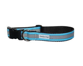 Blue Zebra Stripe Collar *FREE SHIPPING*