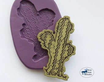 Cactus Mold/Mould - Western Mold - Silicone Molds - Polymer Clay Resin Fondant