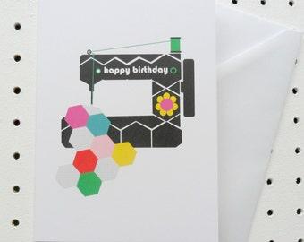 Sewing Machine Birthday Card