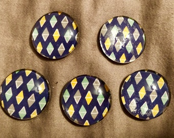 set of five magnets