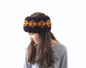Girls Chunky Fair Isle Knit Ear Warmer Headband | The Little Holli