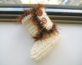 Crochet Pattern for Baby Boots, Crochet Boot Pattern, Booties Pattern, Baby Boots Pattern, Furry Boots