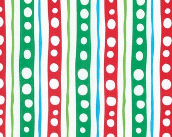 Free Spirit - Merry Xmas - Candy Stripe - Merry by David Walker - PWDW132.OMERR - 100% cotton fabric - Fabric by the yard(s)