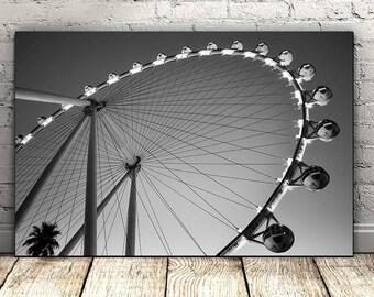 Ferris Wheel Print, Black and White Photo, Wall Art Printable, Instant Download, Modern Art, Digital Print, Minimalist Poster,Carnival Print