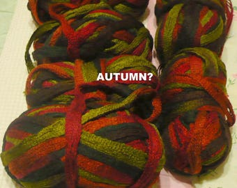 Red Heart -Sashay Yarn - ( Scarf )  3.5 Ozs - Check For Availablity - Must Buy All Of Autumn ? - No Labels ,Waltz,Mambo,Boogie,Red & More
