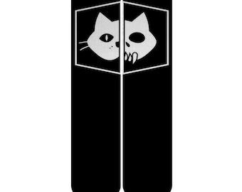 Birthday Present Schrödinger's cat Custom Elite Socks, Black Cat Socks, Black White Schrödinger Cat Dead And Alive Cat Socks