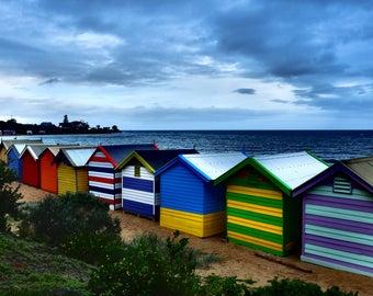 Brighton, Australia, Beach Photography, Beach Huts, Fine Art Photography