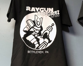 Raygun Samurai Tattoo shop shirts