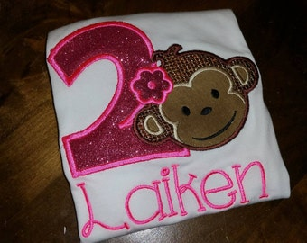 Monkey Birthday shirt