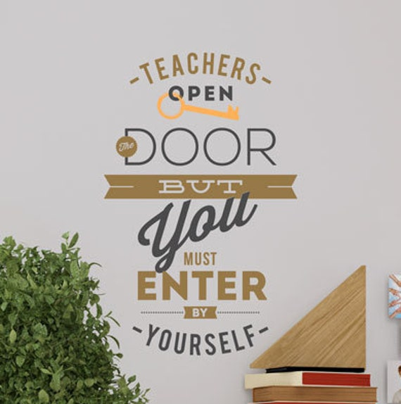 Teachers Open the Door Wall Decal by WallVinylCreations