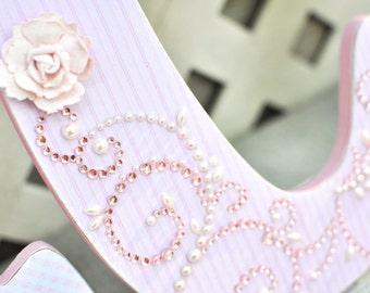 Girl Nursery Wall Letters, farmhouse nursery decor, shabby chic girl nursery decor, blush pink-any color and theme- The Rugged Pearl