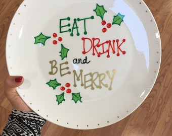 Eat Drink and Be Merry Plate