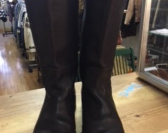 FRYE brown leather boots size 8 1/2 B