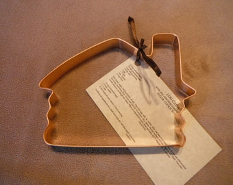 Large Log Cabin Shaped Solid Copper Cookie Cutter