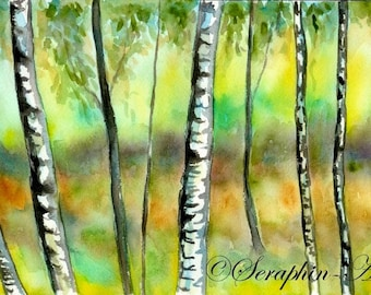 Forest Original Watercolor Painting