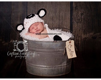 Sleepy Cow- Cuddle Critter Cape Set  - Newborn Photography Prop