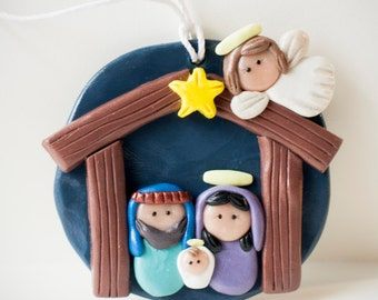 Made-to-Order Clay Nativity Set