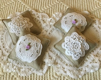 Set of Three Mix or Match Lavender  Sachets