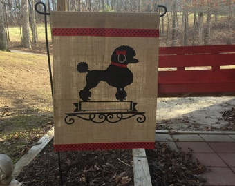 Poodle/Dog/Poodle Personalized Garden Flag/Poodle Garden Flag