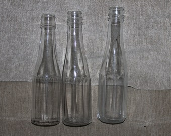 2 Heinz Company Ketchup Bottles & 1 Bottle Not Marked, Three in All, 2 1890 Bottles, Ketchup, Condiment, Bottle Collectors, Very Collectible